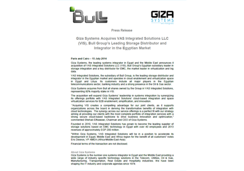 PR GS Acquisition 15 July 2014